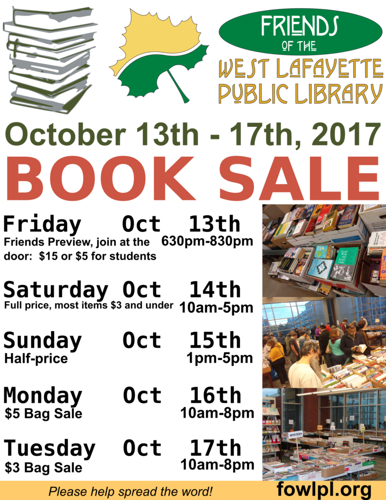 Book Sale Poster - Inside Library - Fall 2017