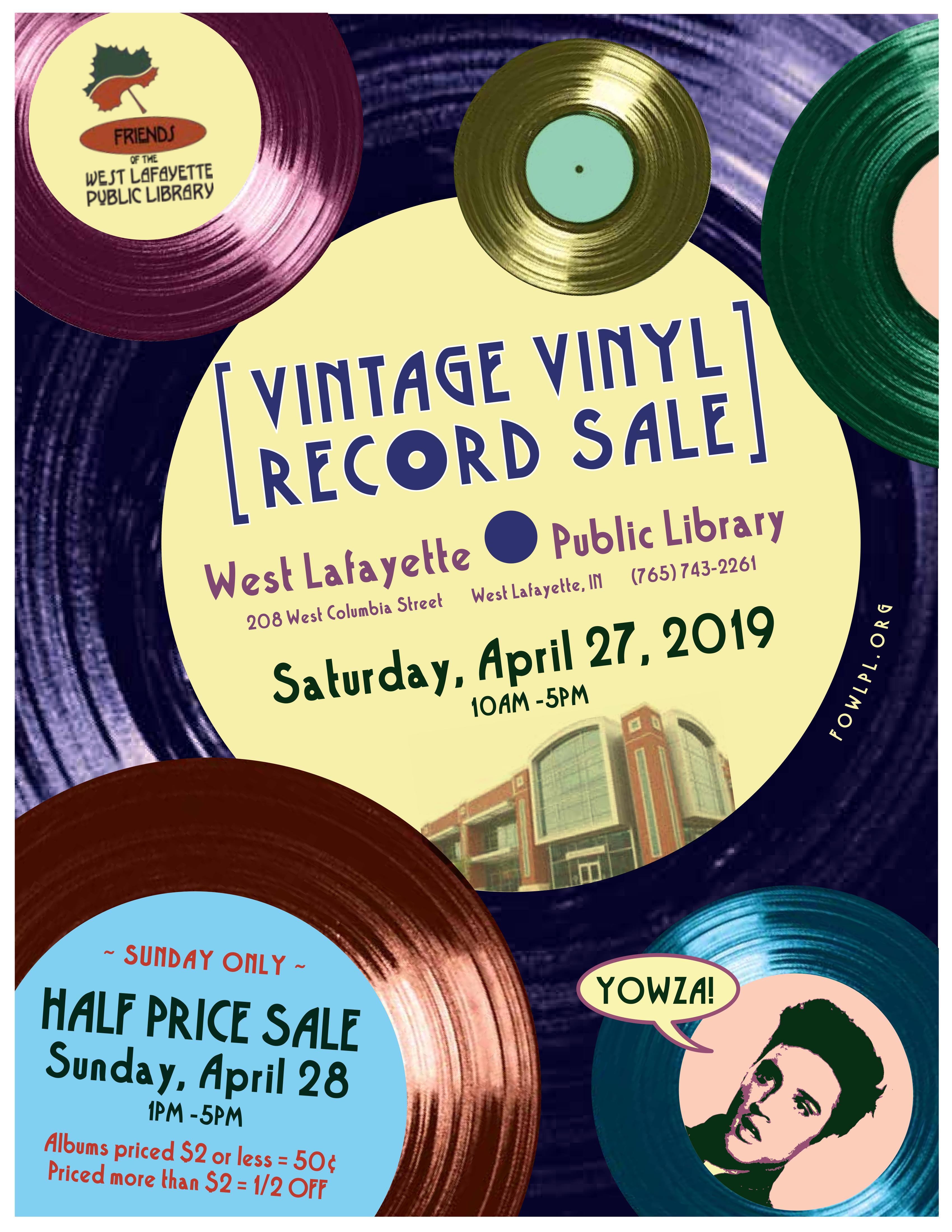 Vintage Vinyl Sale – Friends of the West Lafayette Public Library